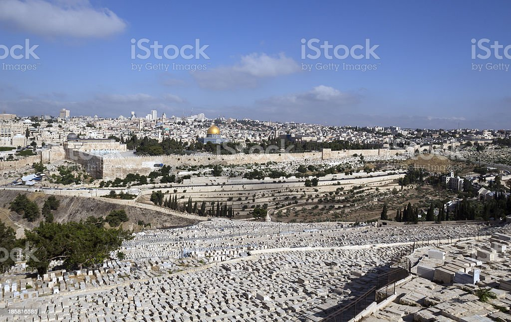 Jerusalem Panorama stock photo