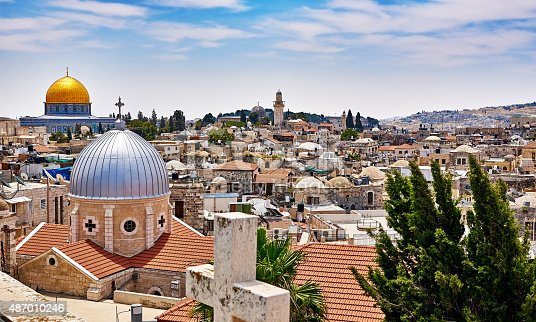 istock Jerusalem panoramic roof view 487010246