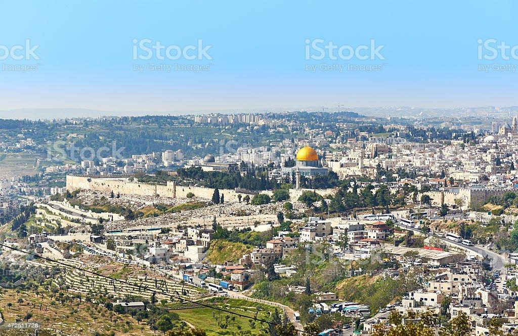 Jerusalem panoramic view stock photo