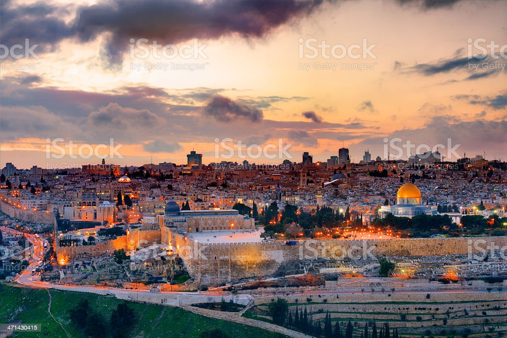 Jerusalem Skyline stock photo