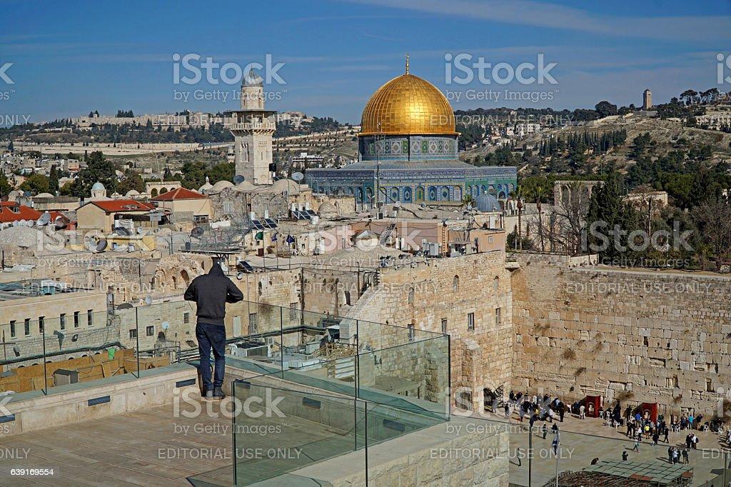 Jerusalem, Temple Mount stock photo