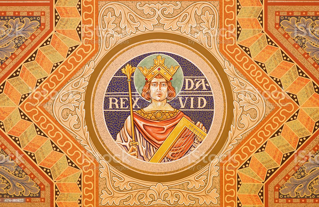 Jerusalem - The king David fresco stock photo