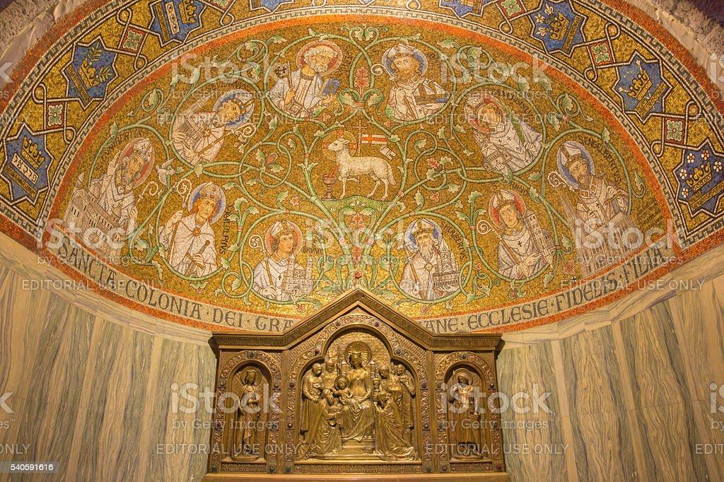 Jerusalén-mosaico de cordero en dormición abadía - foto de stock