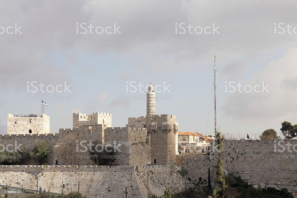 Jerusalem, the old city, Tower of David royalty-free stock photo