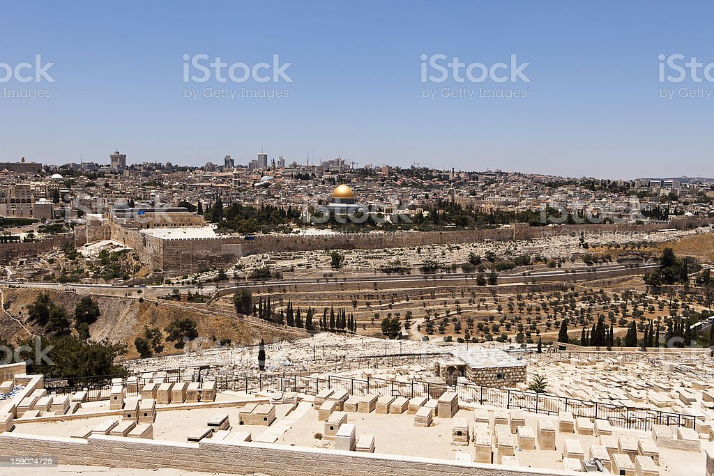 Jerusalem View With Cemetery royalty-free stock photo