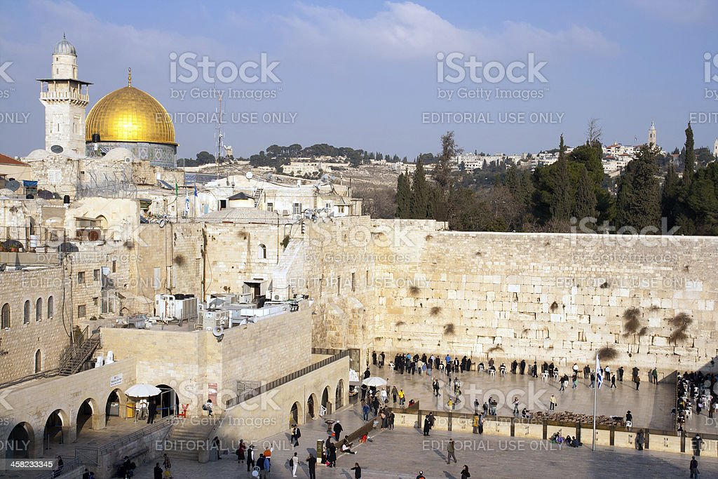 Jerusalem - Wailing Wall royalty-free stock photo