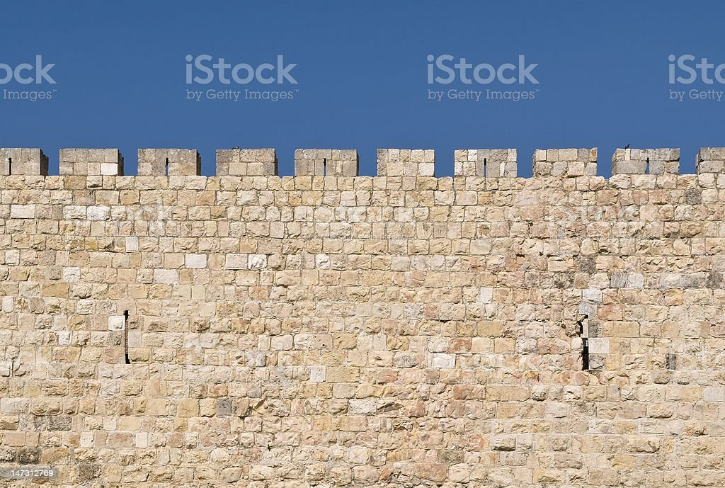 Jerusalem Wall royalty-free stock photo