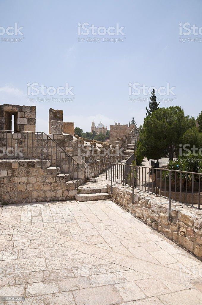 Jerusalem Walls royalty-free stock photo