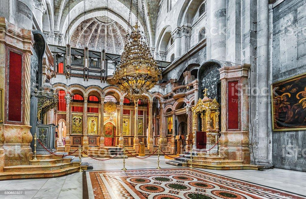 Jerusalem.Israel. Holy Sepulchre Church - Church of the Resurrection. stock photo