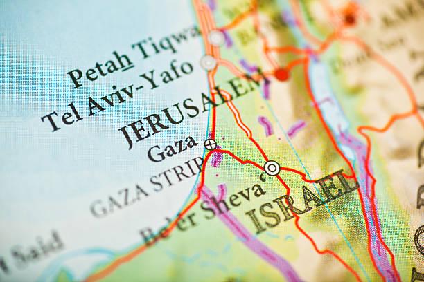 jerusalem,israel map - israël stockfoto's en -beelden