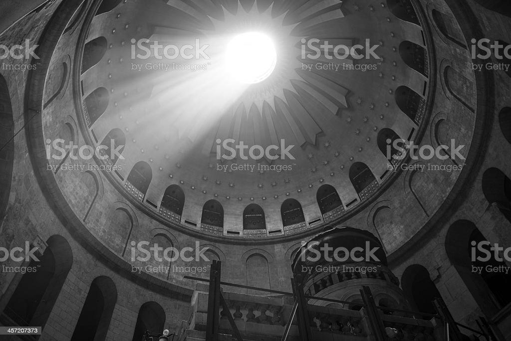 Jerusalem's Holy Sepulchre dome royalty-free stock photo