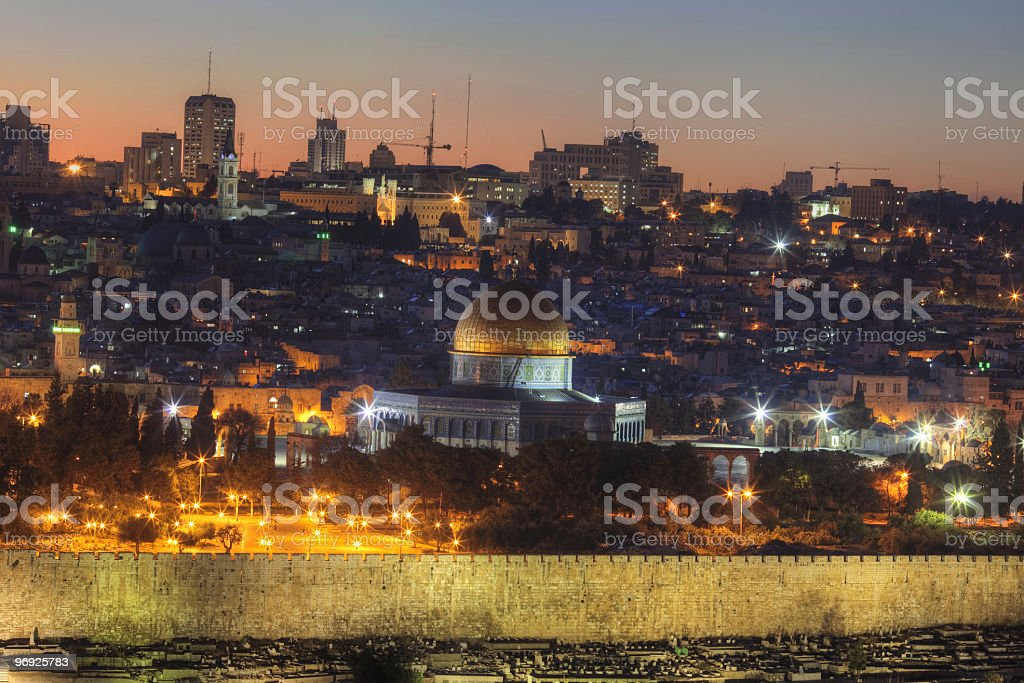 Jerusalim at evening royalty-free stock photo