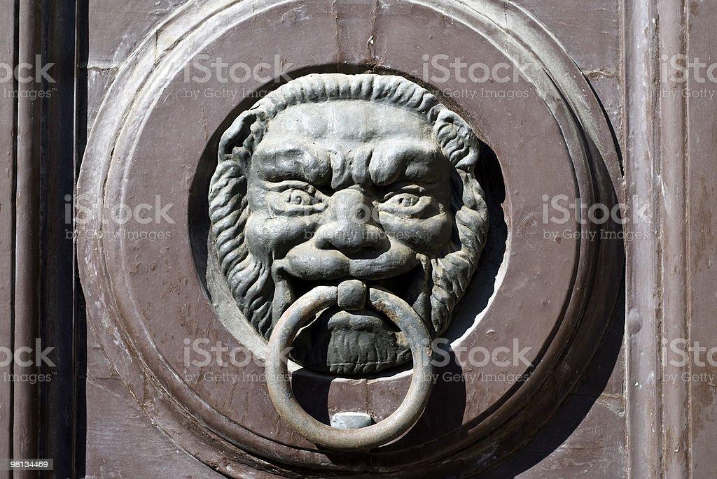 Jesi (Marches, italy) - Door knocker royalty-free stock photo