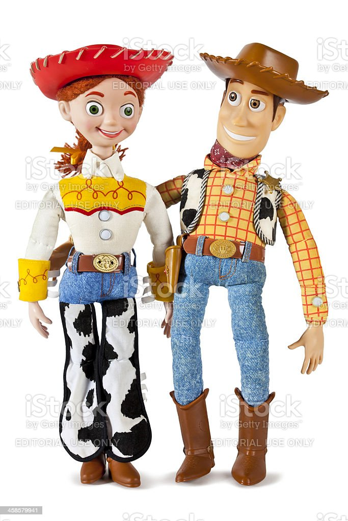 Jessie and Woody Toy Story Characters stock photo