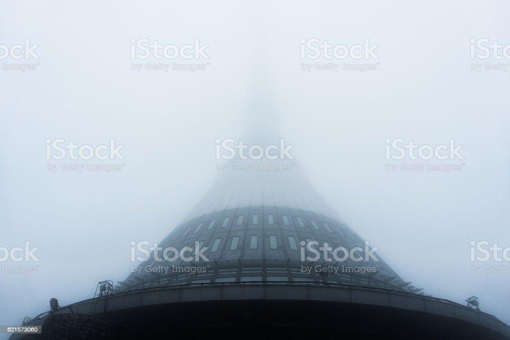 Jested communication tower stock photo