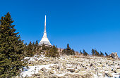 istock Jested mountain with unique TV transmitter near Liberec, Czech Republic 937914590