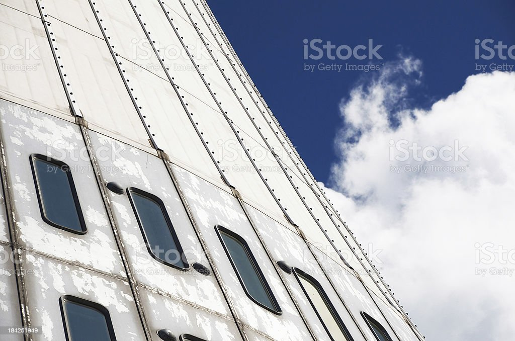 Jested television tower, Liberec, Czech Republic. stock photo