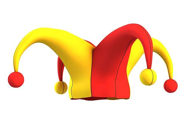 Bufón sombrero Aislado en blanco - foto de stock