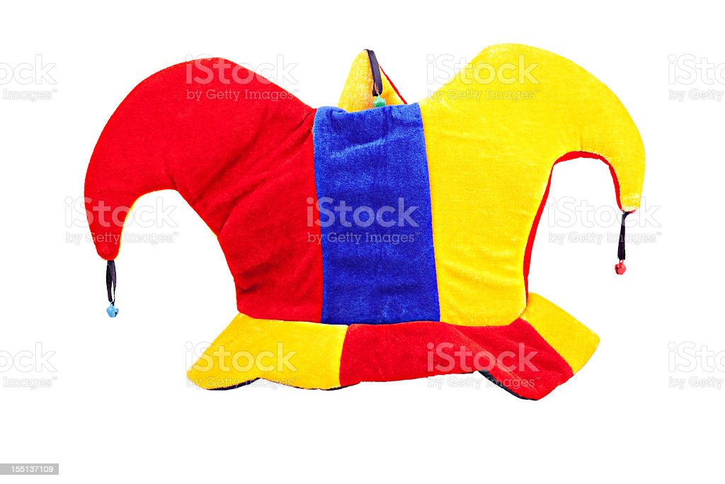 Gorro de bufón (clipping path (Borde de corte - foto de stock
