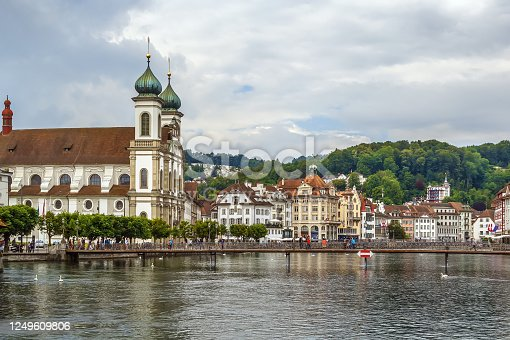 Jesuit Church is a Catholic church on Reuss river in Lucerne, Switzerland