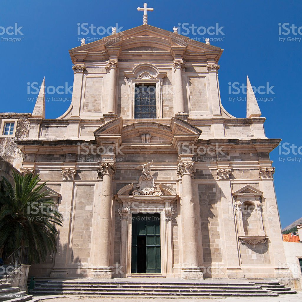 Jesuit Church of Dubrovnik stock photo