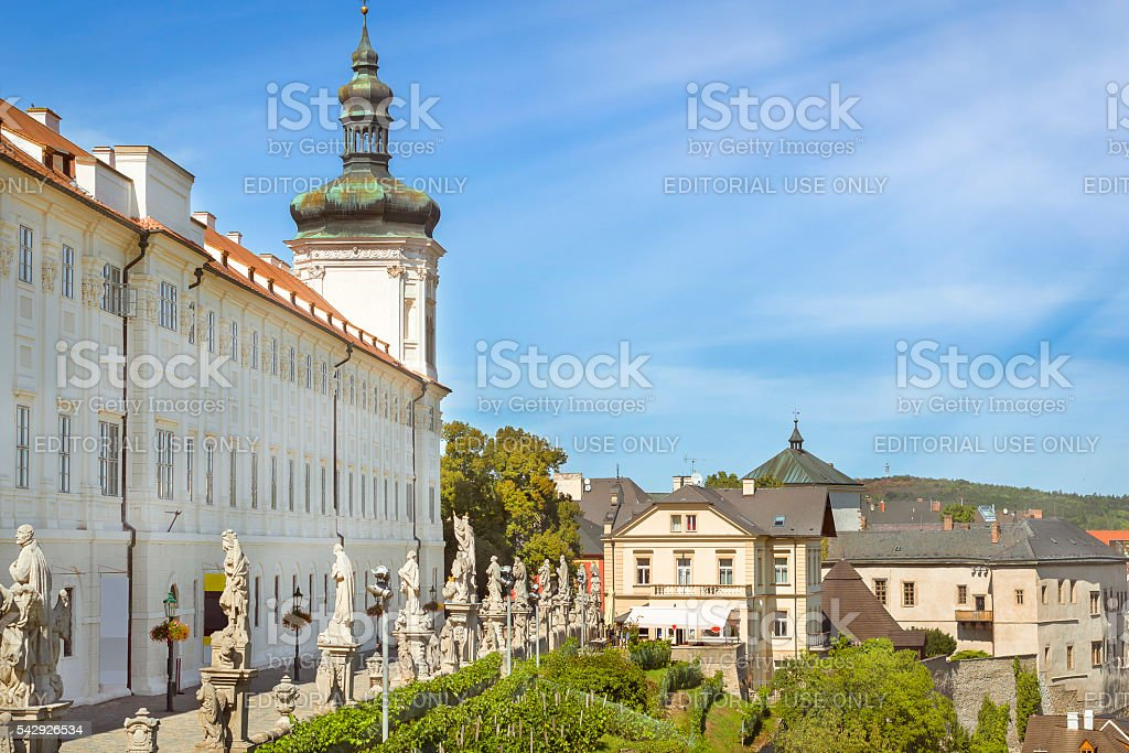 Jesuit College in Kutna Hora, city protected by UNESCO stock photo