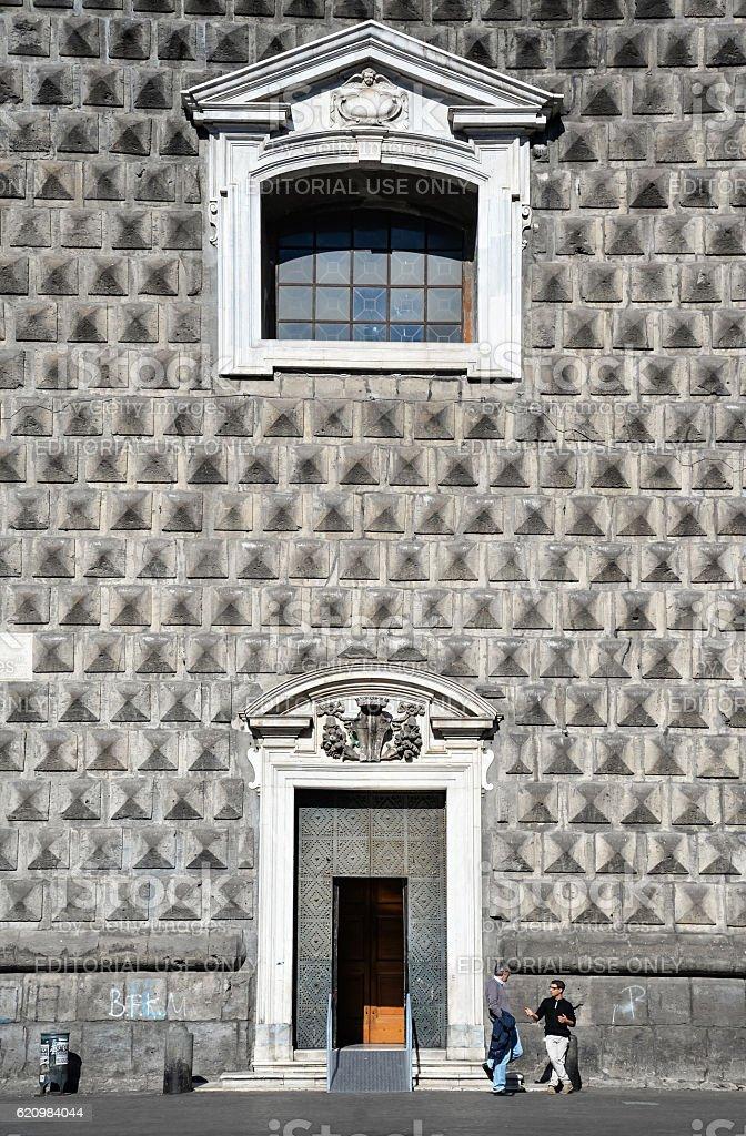 Piazza del Gesu in Naples foto royalty-free