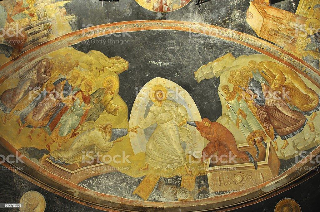 Jesus, Adam and Eve royalty-free stock photo