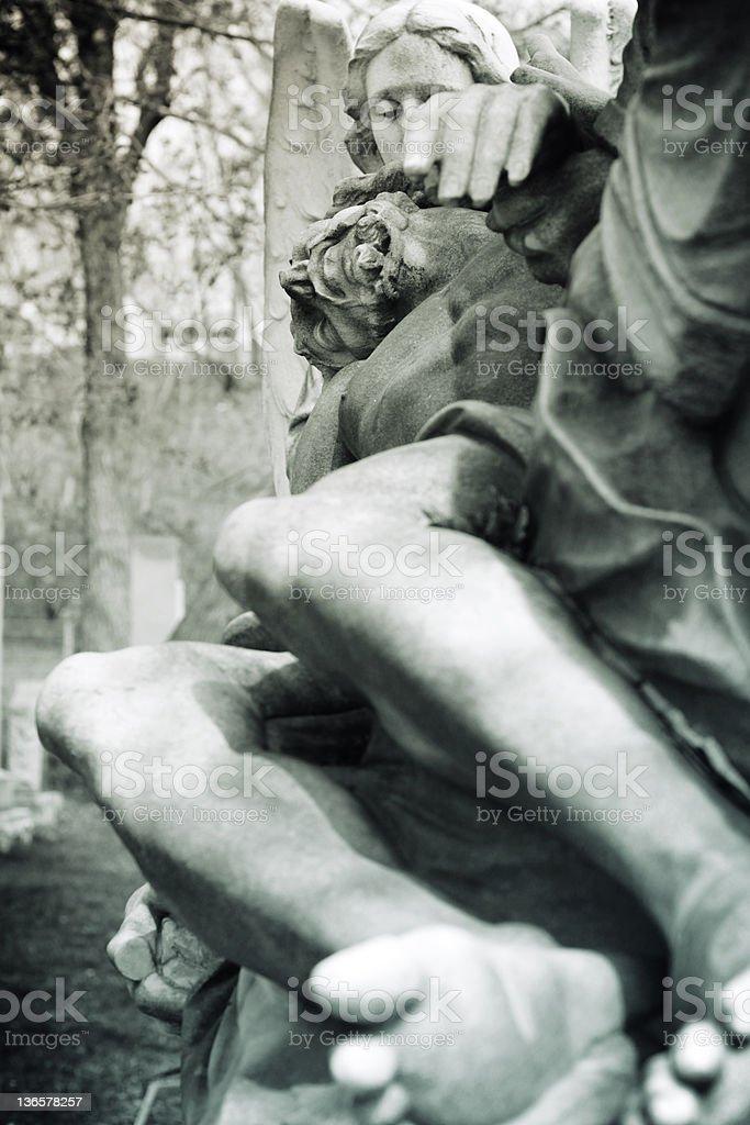 Jesus and Angel stock photo