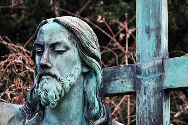 Jesus and cross stock photo