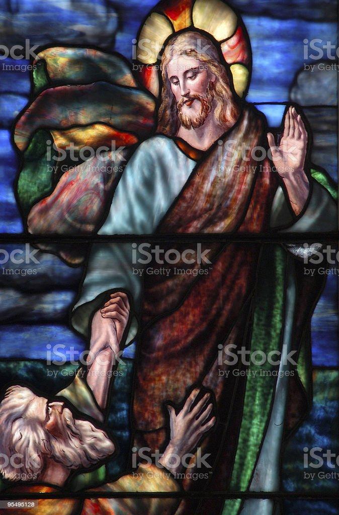 Jesus and his disciple stock photo