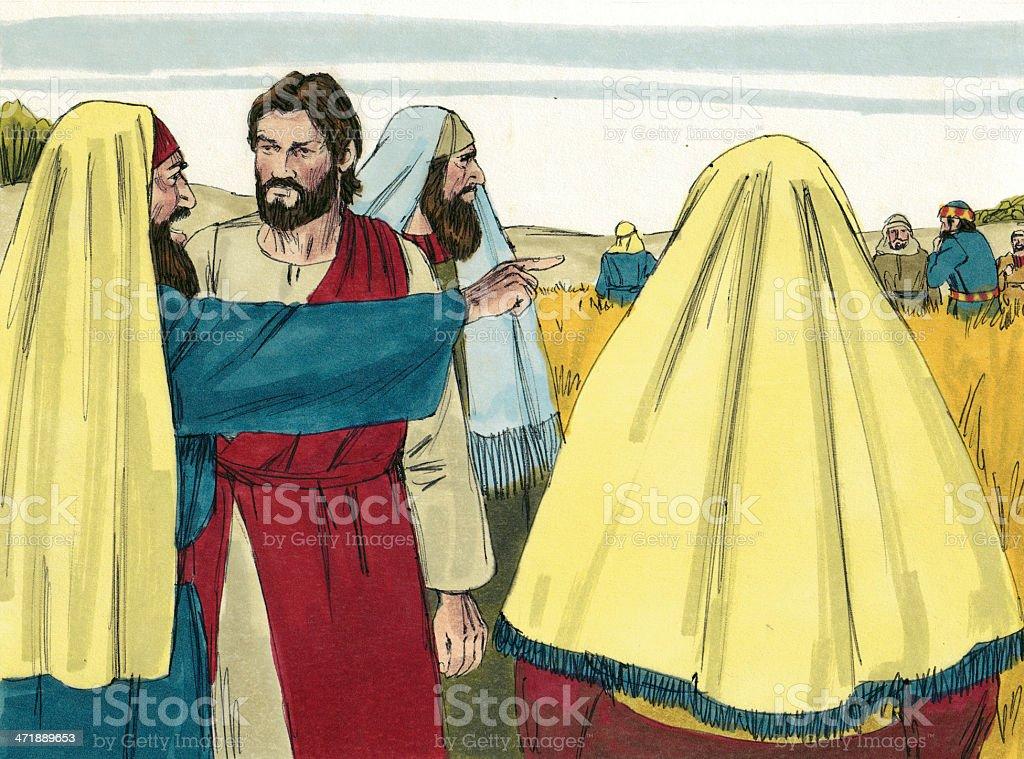 Jesus and Leaders stock photo