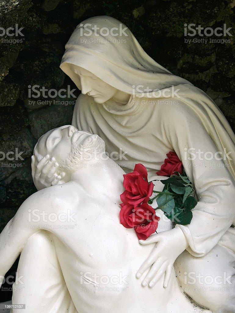 Jesus and Mary royalty-free stock photo