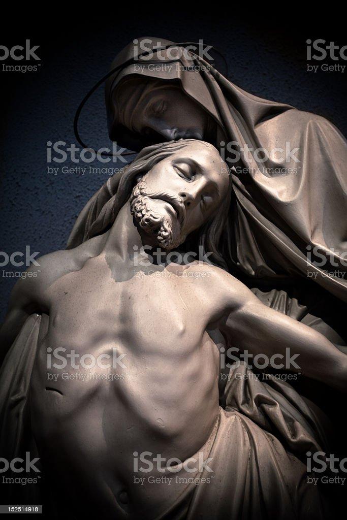 Jesus and Saint stock photo