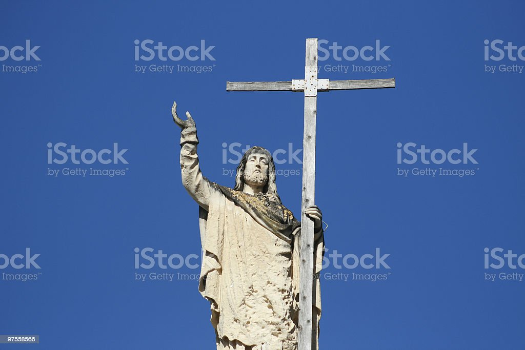 Jesus and the Cross royalty-free stock photo