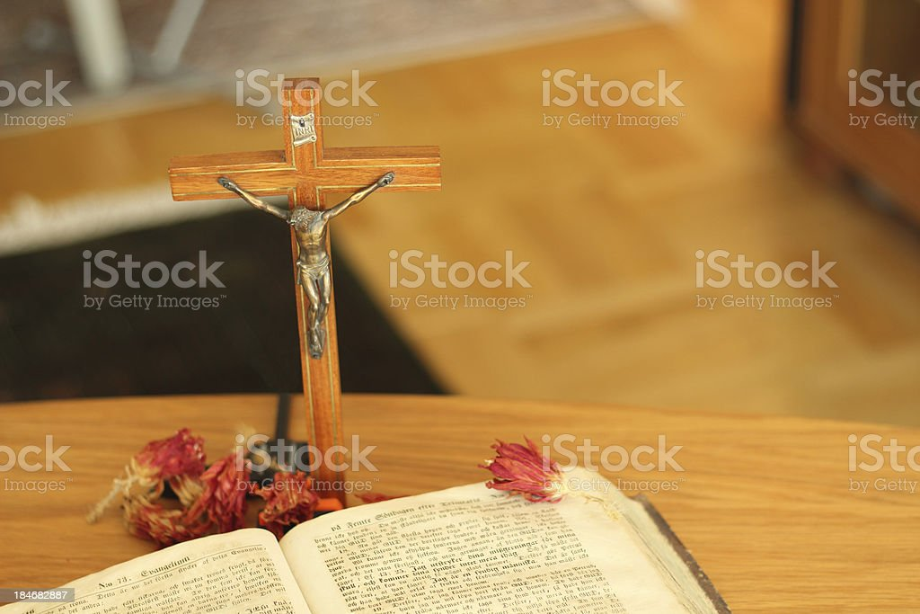 Jesus and the holy book stock photo