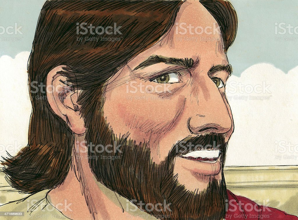 Jesus Answers stock photo