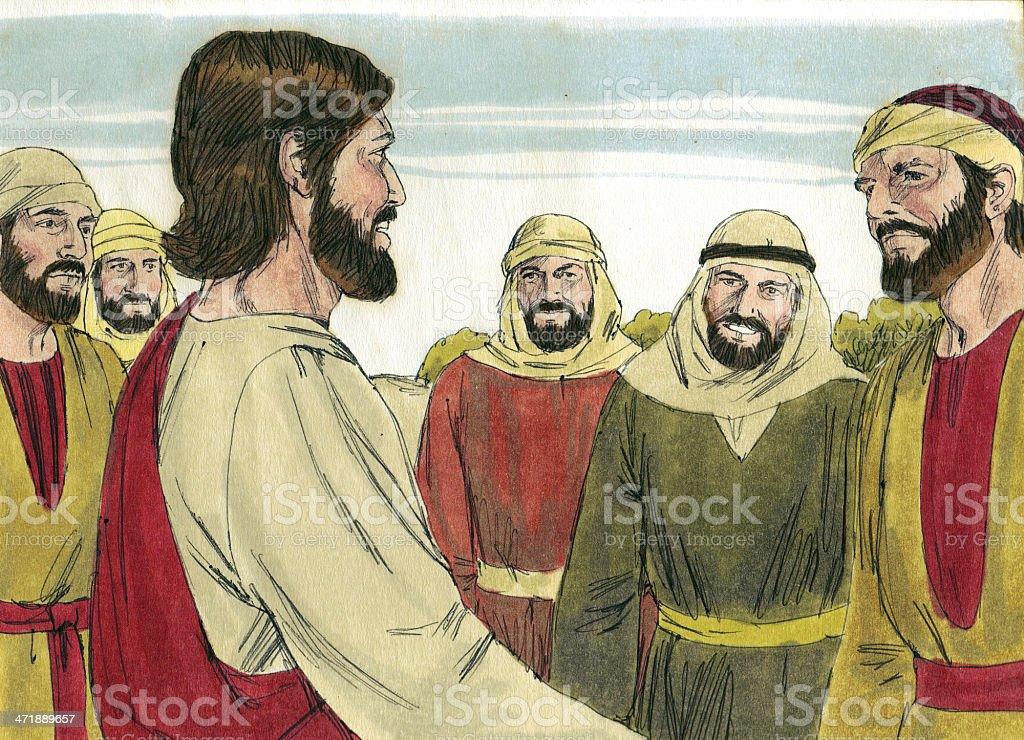 Jesus' Apostles stock photo