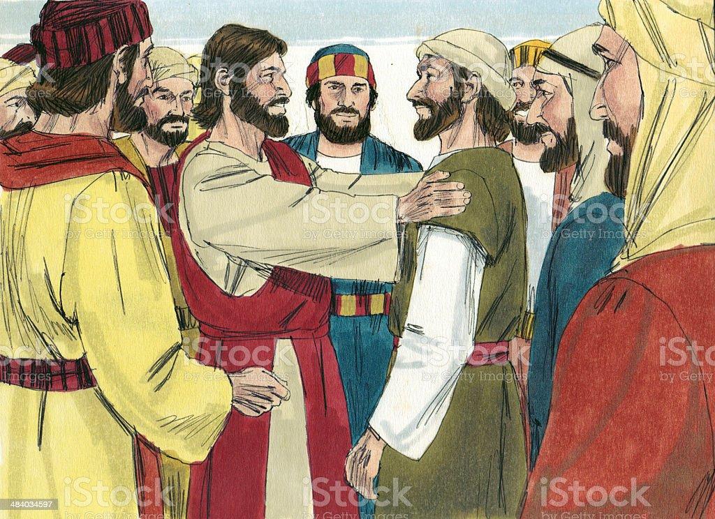 Jesus Calls Apostles stock photo