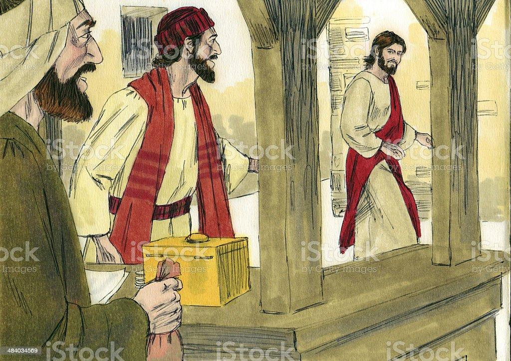 Jesus Calls Matthew, Tax Collector stock photo