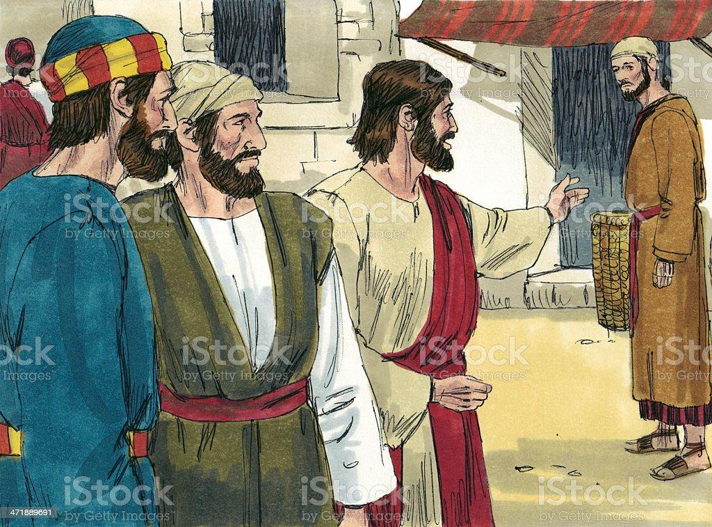 Jesus Calls Philip stock photo