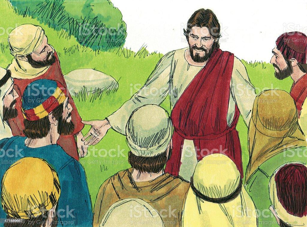 Jesus Chooses Twelve Apostles stock photo