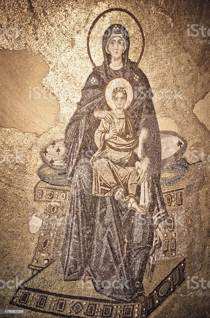 Jesus Christ and Virgin Mary royalty-free stock photo