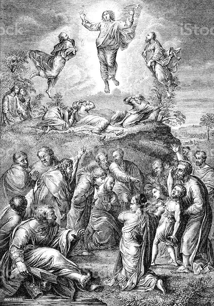 Jesus Christ Ascension into Heaven stock photo