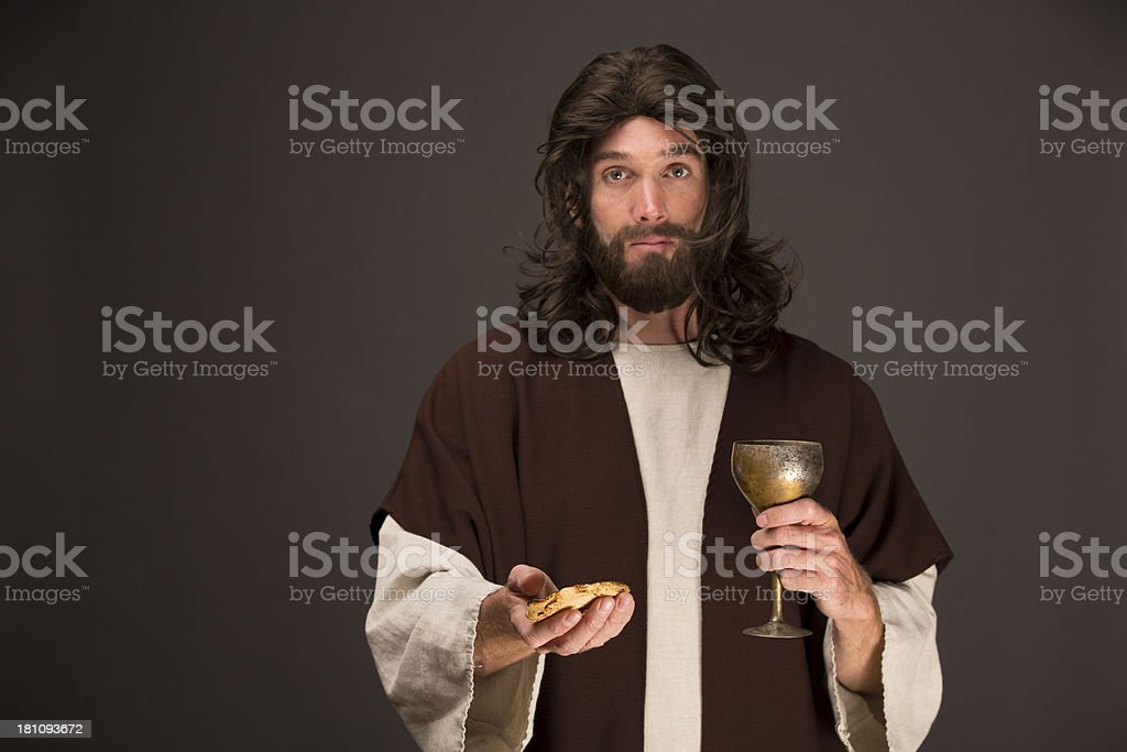 RELIGION - Jesus Christ blessing last super. This stock image has a...