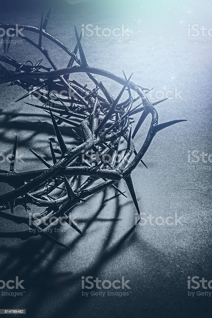 Jesus Christ crown of thorns stock photo