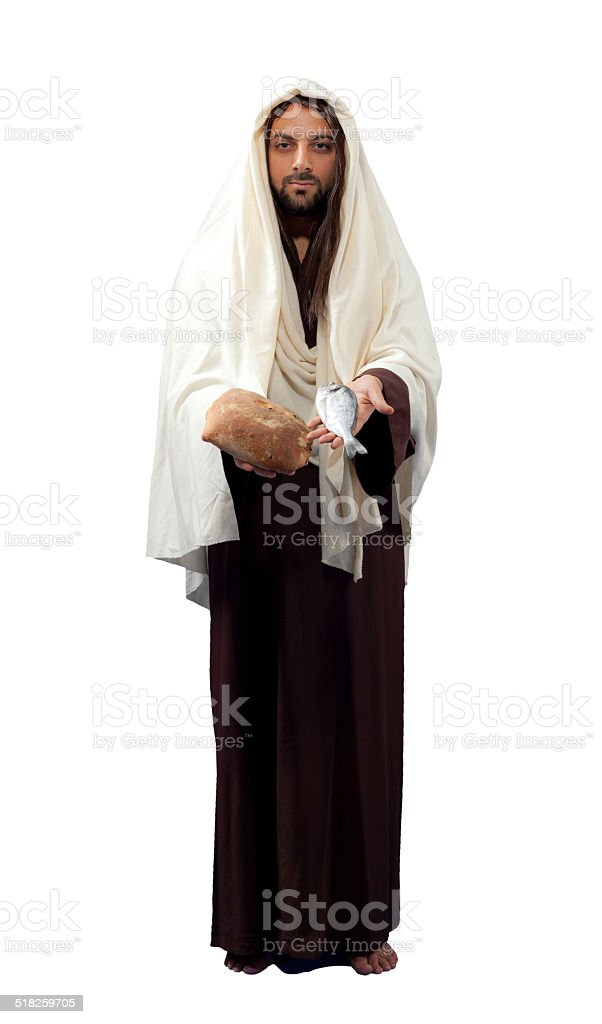 Jesus Christ full length stock photo