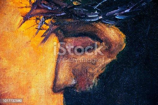 Jesus Christ on sun light background, stock photo