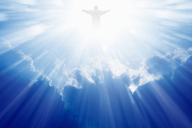jesus christ in heaven - god stock photos and pictures