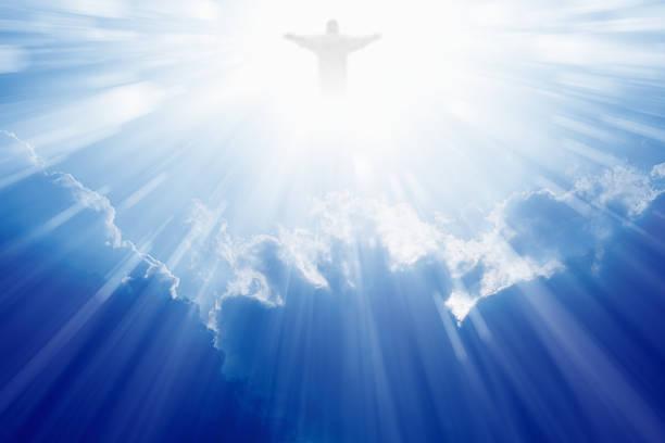 jesus christ in heaven - cennet stok fotoğraflar ve resimler